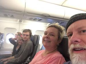 On a plane
